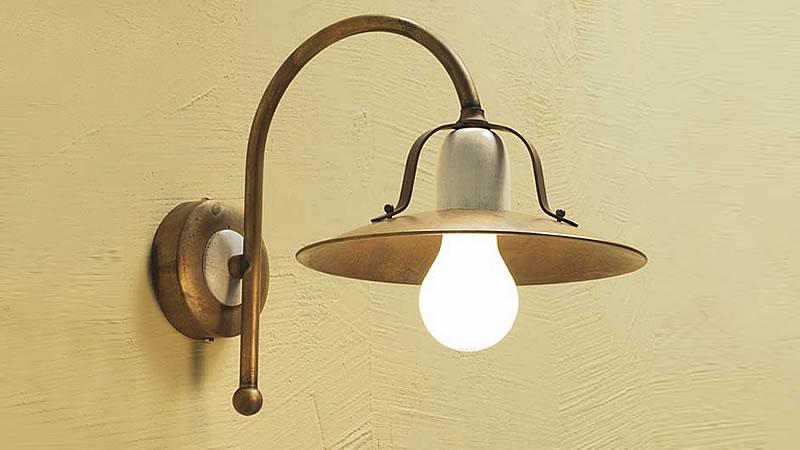 Plafoniere Rustiche A Parete : Applique lampade da parete