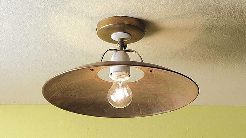 Plafoniere Ottone E Vetro : Plafoniere lampade da soffitto