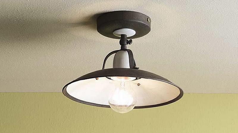 Plafoniere Soffitto Industrial : Plafoniere lampade da soffitto