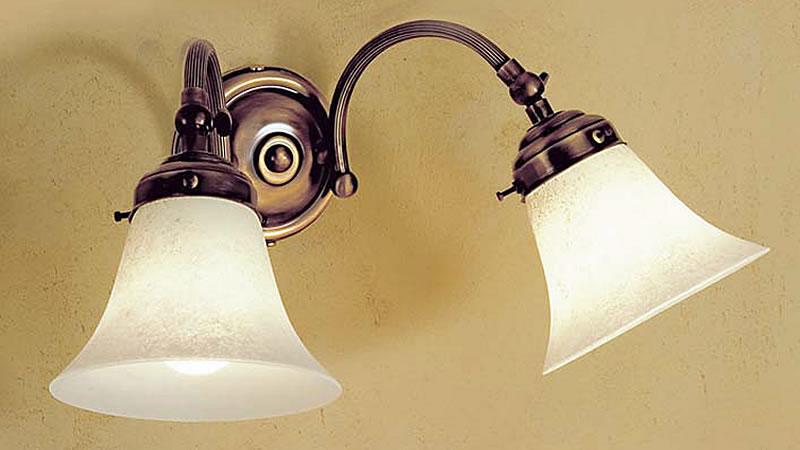 Applique ottone luci con negozio illuminazione siena firenze